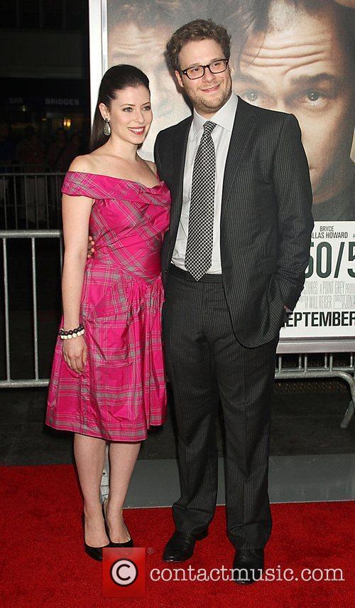 Lauren Miller and Seth Rogen 50/50 New York...