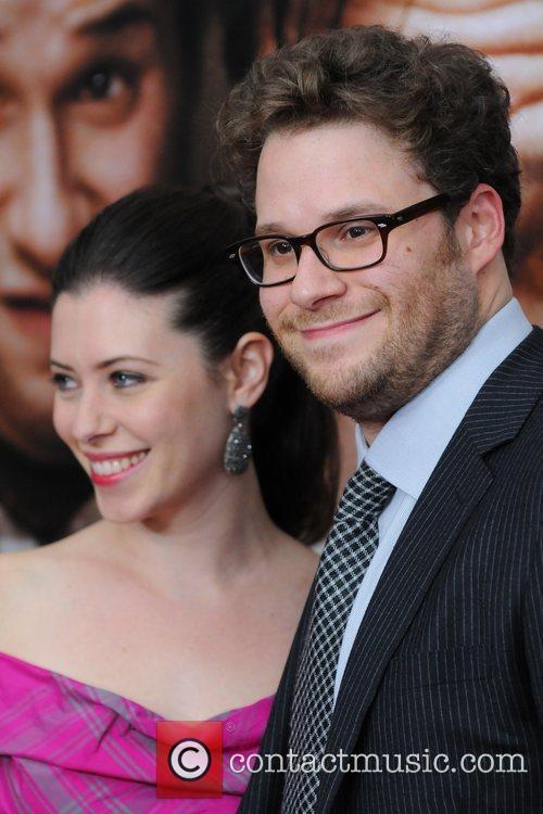 Seth Rogen and Lauren Miller 50/50 New York...