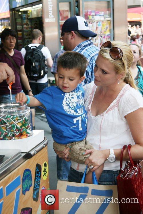 Melissa Joan Hart and her son Braydon Wilkerson...