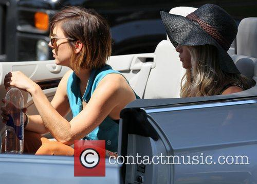 Jessica Stroup and Gillian Zinser Cast members of...