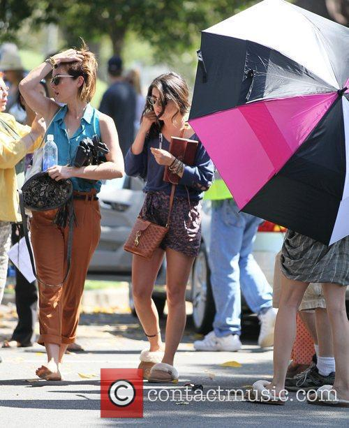 Jessica Stroup and Shenae Grimes  Cast members...