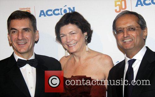 Guest, Diana Taylor and Vikram Pandit Accion 50th...