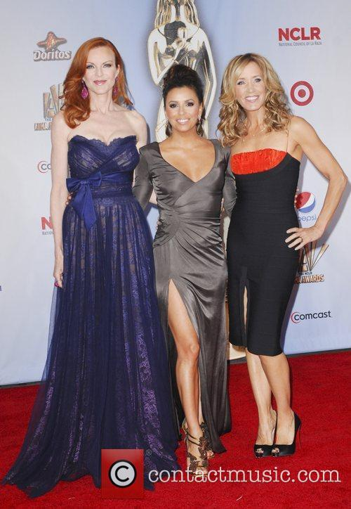 Felicity Huffman, Eva Longoria, Marcia Cross and Alma Awards 6