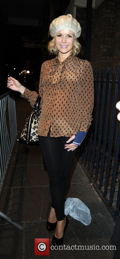 Amanda Holden leaving the Theatre Royal after performing...