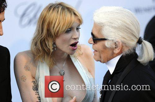 Courtney Love and Karl Lagerfeld 1