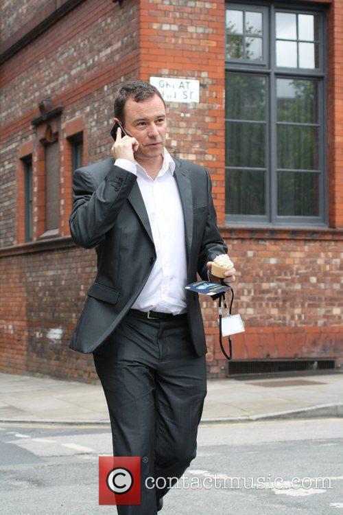 Andrew Lancel from the ITV soap Coronation Street...