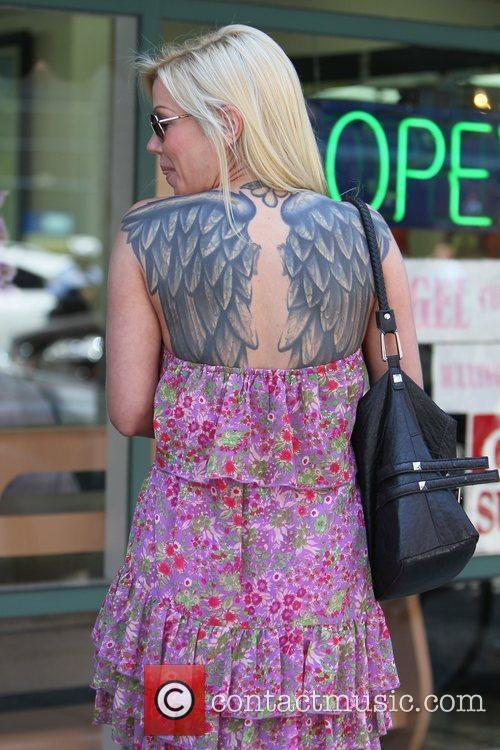 Angie Savage Out and about Beverly Hills, California
