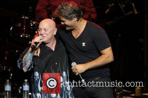 Angry Anderson and Jon Stevens Danielle Spencer, wife...