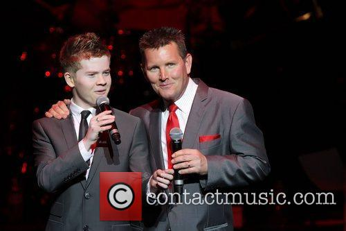 Tom Burlinson and Liam Burrows Danielle Spencer, wife...