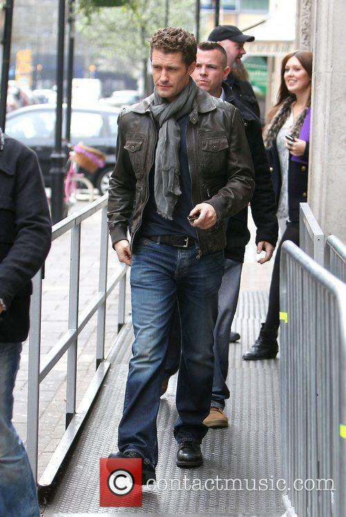 Matthew Morrison from Glee arriving at the BBC...