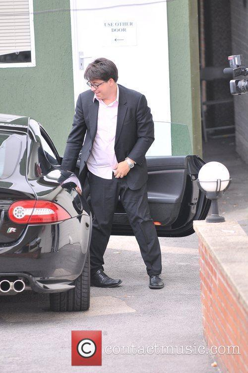Michael McIntyre  arriving at the studio for...