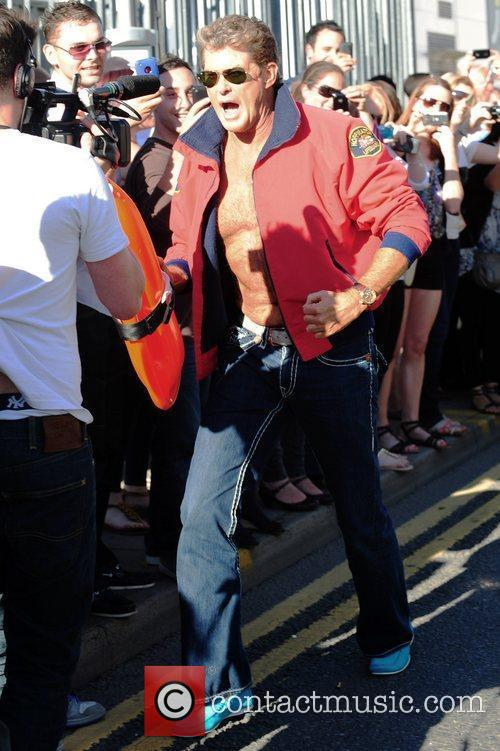 David Hasselhoff Judges and Guests arrive for the...