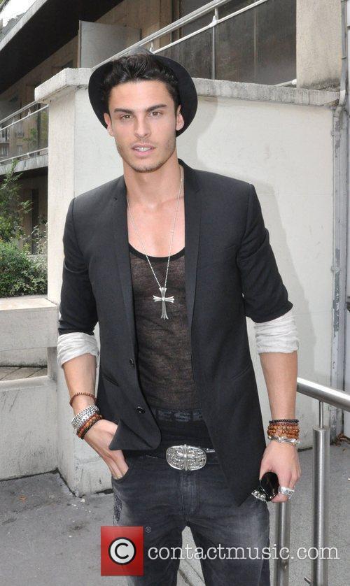 French model Baptiste Giabiconi arriving at NRJ radio...