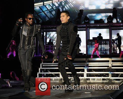 Will.i.am and Taboo performs during the Black Eyed...