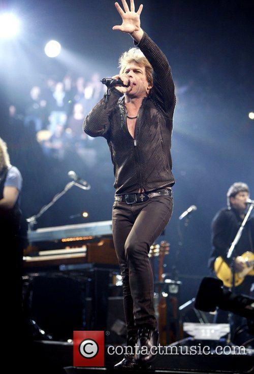 Jon Bon Jovi of Bon Jovi performing live...