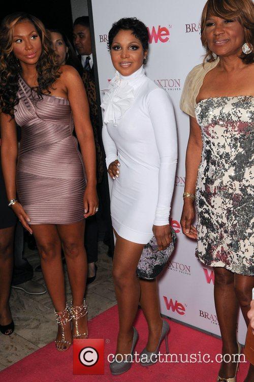 Toni Braxton, Tamar Braxton, Evelyn Braxton attend the...