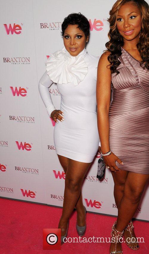 Toni Braxton, Tamar Braxton attend the Launch party...