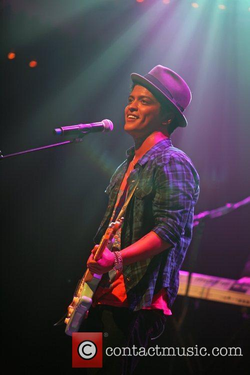 Bruno Mars performing live in concert at the...