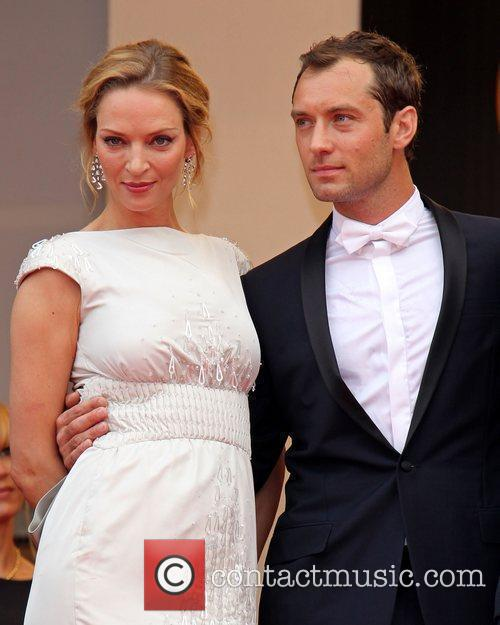 Uma Thurman and Jude Law 2011 Cannes International...
