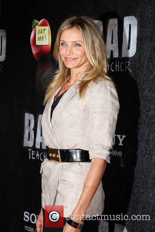 Cameron Diaz at the CinemaCon Convention receiving the...