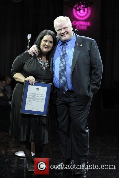 Mayor Rob Ford, and Michelle Fidani  Catwalk...