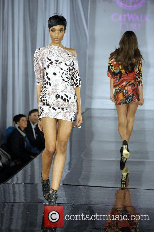 Model (Fashion by Diane Kroe) Catwalk Cure in...