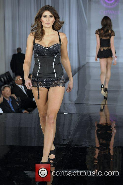 Model (Fashion by Envie Intimates) Catwalk Cure in...