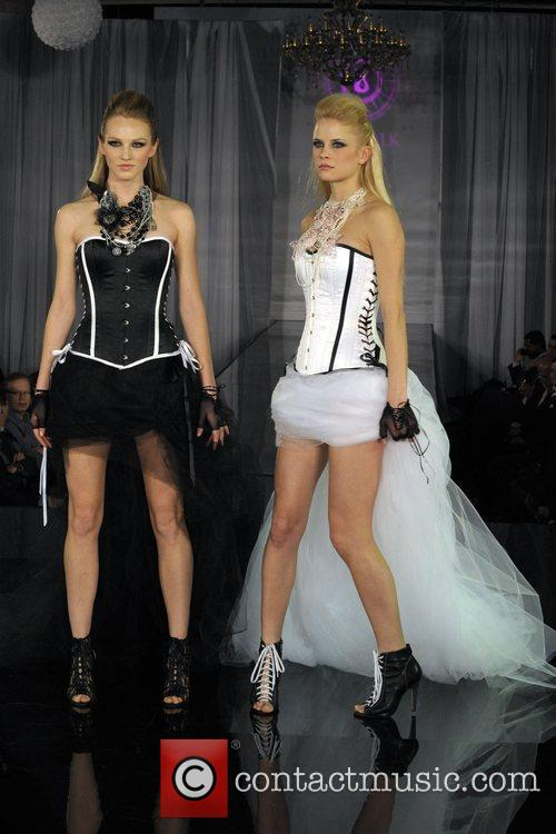 Models on catwalk  Catwalk Cure in support...