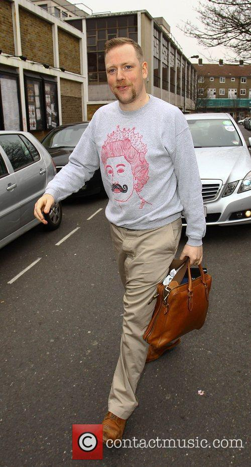 Rufus Hound  arrives for a taping of...