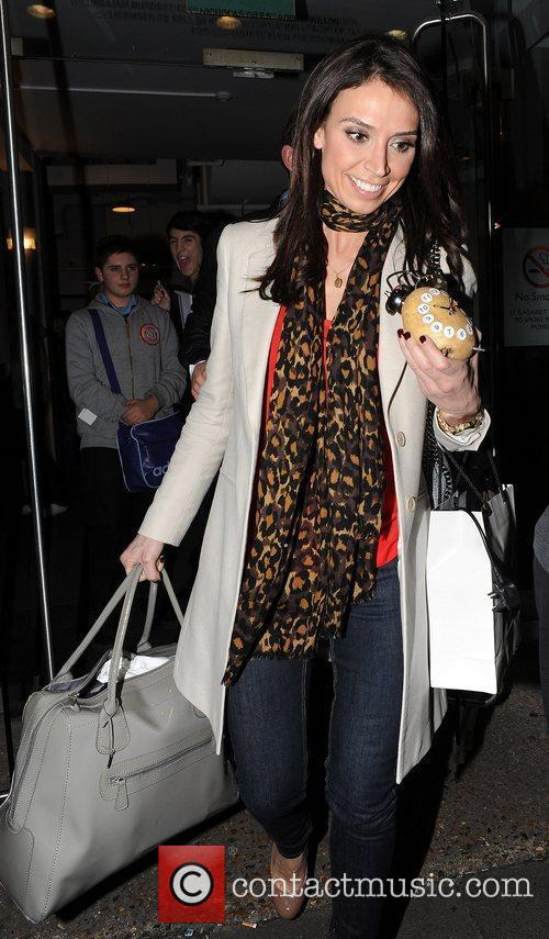Leaving a taping of the ITV2 show Celebrity...