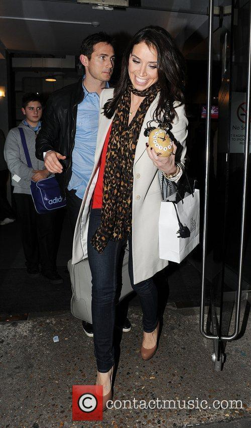 Frank Lampard and Christine Bleakley leaving a taping...