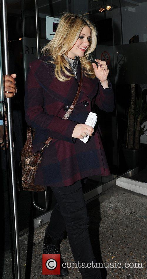 Holly Willoughby leaving a taping of the ITV2...