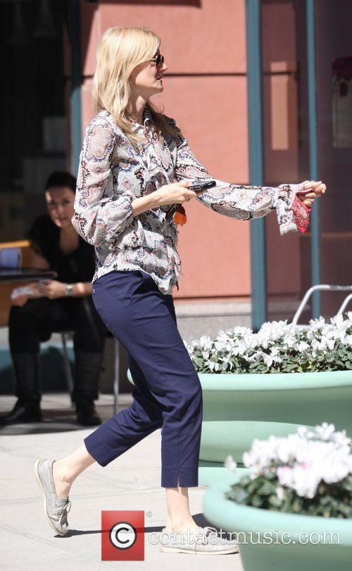Laura Dern was spotted leaving Anastasia salon Beverly...