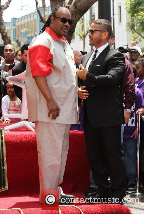 Stevie Wonder and Benny Medina 1