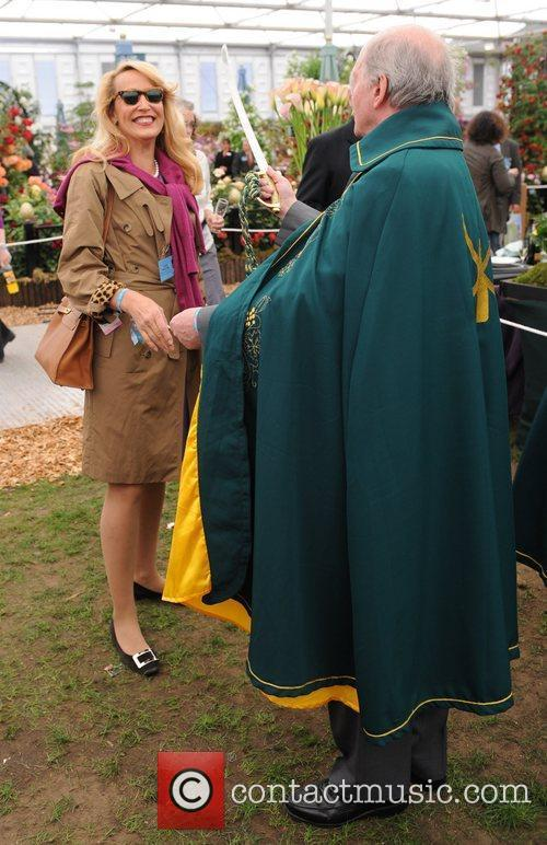 Jerry Hall  The 2011 Chelsea Flower Show...