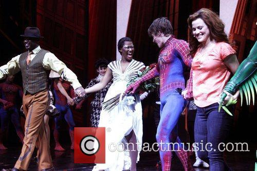 Christina Sajous, Reeve Carney, Rebecca Faulkenberry and cast...