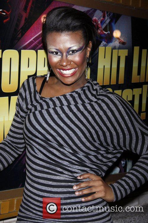 Christina Sajous (still in stage make-up) Christina Sajous...