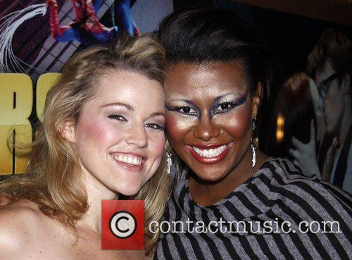 Rebecca Faulkenberry poses with Christina Sajous (still in...
