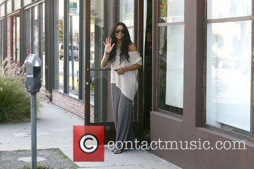 Ciara leaving a nail salon in  Beverly...