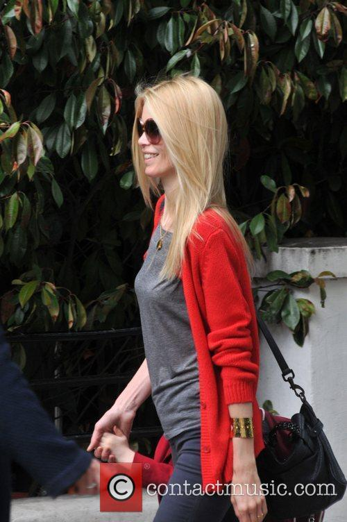 German model Claudia Schiffer takes her daughter to...