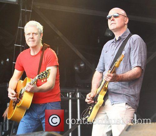 Deacon Blue performs at The Cornbury Music Festival...