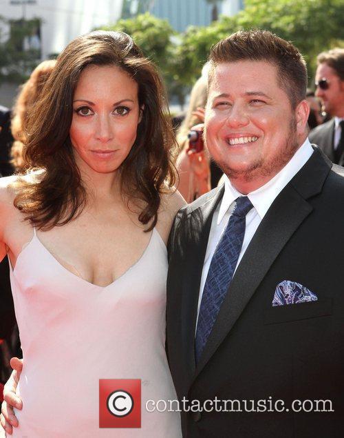 Chaz Bono (R) with Girlfriend Jennifer Elia 2011...