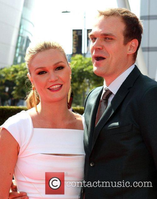 Julia Stiles and her boyfriend 2011 Primetime Creative...