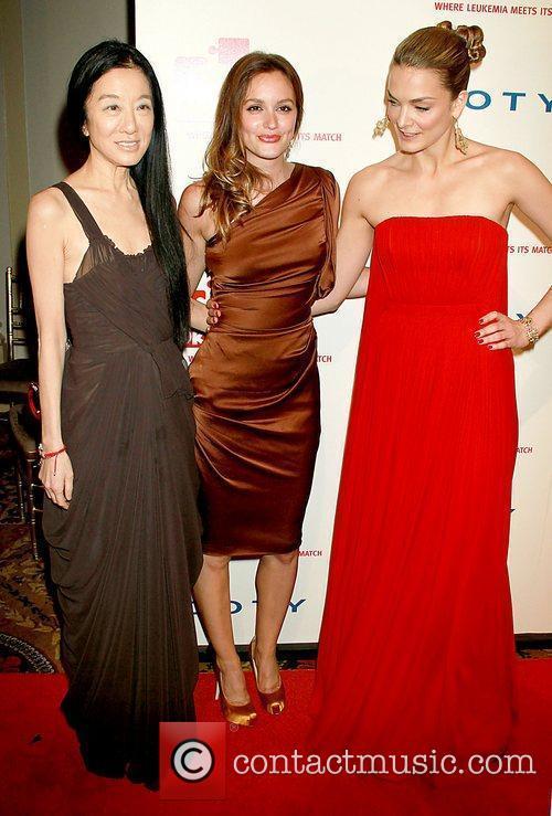Vera Wang, Katharina Harf and Leighton Meester 2