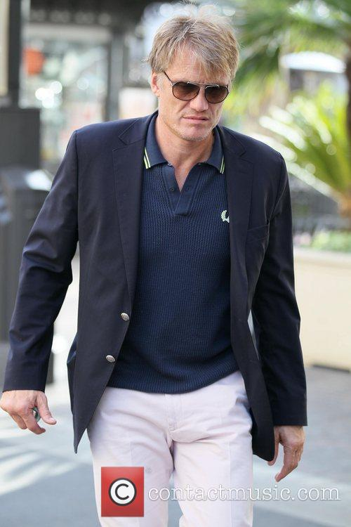 Dolph Lundgren and his daughter go shopping at...
