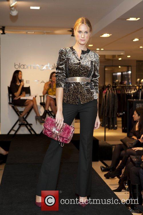 Model during fashion show Elie Tahari at Bloomingdales...