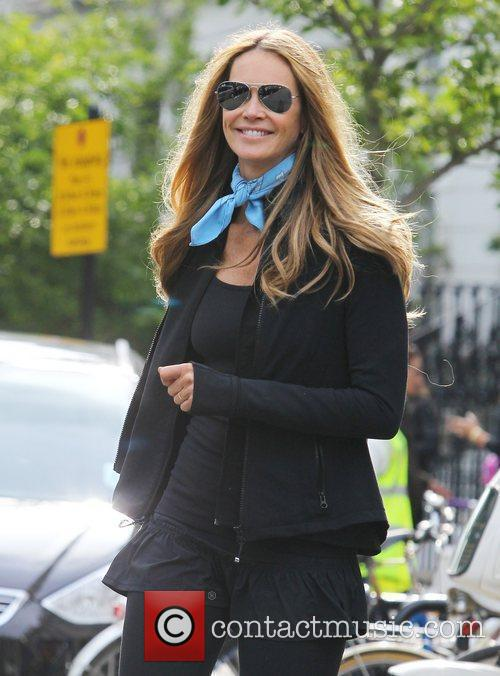 Elle Macpherson out and about in Notting Hill...