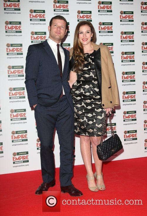 Dermot O'Leary and girlfriend Dee Koppang The 2011...