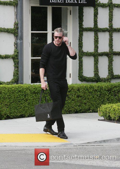 Leaving a store in West Hollywood