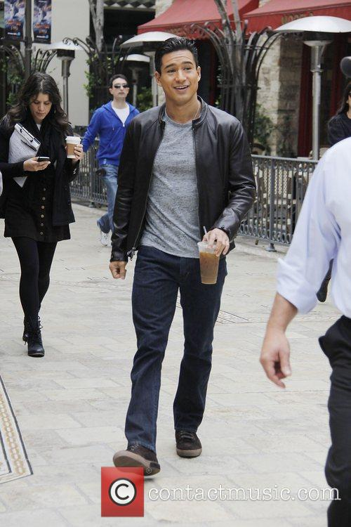 Mario Lopez  at The Grove to film...